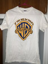 "Graphic Small Tshirt ""If You See Da Police Warn A Brother"""