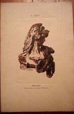 Gravure sur bois, Bellone, J.BELTRAND d'après RODIN