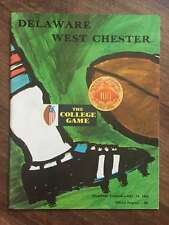 WEST CHESTER @ DELAWARE STATE COLLEGE FOOTBALL PROGRAM 1969 EX