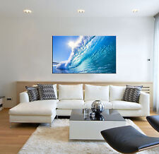 Small Sea Wave Ocean Seascape Canvas Wall Art Picture Print Home Bedroom Decor