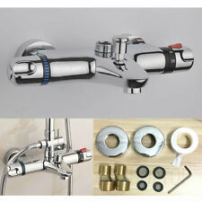 """Thermostatic Shower Bar Mixer Valve Tap Chrome Exposed 3/4"""" (25mm) Top Outlet"""