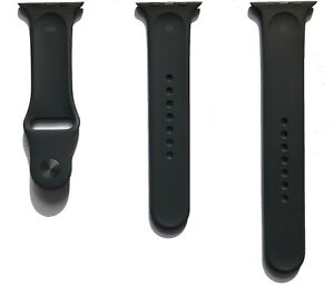 Genuine Official New Apple Watch Strap 42mm 44 mm S M L Black Sport Band