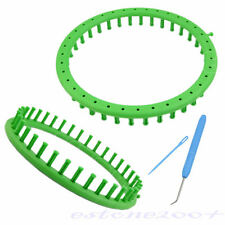 Round Classical Circle Hat Knitter Knifty Knitting Knit Loom Kit Green 24CM