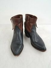 Frye Black Brown Leather Ankle Boots Size 7.5B