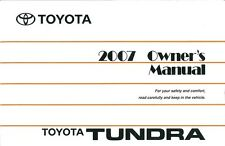 2007 Toyota Tundra Owners Manual User Guide Reference Operator Book Fuses Fluids