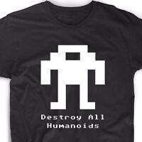Berzerk Robot T Shirt Retro Video Game Arcade Gamer Geek Nerd Tee Funny Gaming