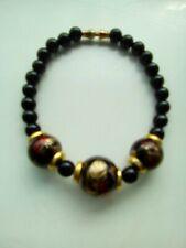 bracelet beaded oriental vintage black ladies/girls  Japan - China  eastern