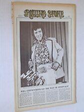 Vintage ROLLING STONE Quarter fold Newspaper #113 ELVIS 7.20.1972