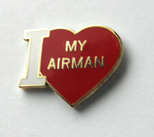 USAF AIR FORCE I LOVE MY AIRMAN LAPEL PIN BADGE 7/8THS INCH