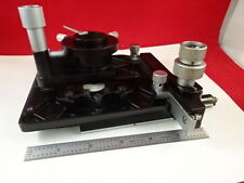 MICROSCOPE PART LEITZ GERMANY SM-LUX TABLE STAGE + CONDENSER  AS IS B#P2-A-99