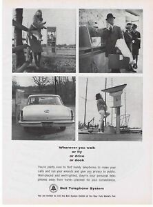 1964 Bell Telephone print ad Telephone Booth & other Public Telephones