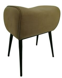 Tan Leather Pommel Stool - Iron Legs