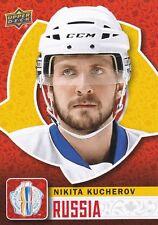 NIKITA KUCHEROV 2016 UPPER DECK WORLD CUP OF HOCKEY BASE #WCH-34 RUSSIA !