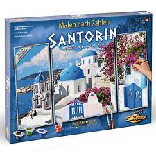 Schipper 609260783 Malen nach Zahlen Triptychon Santorin Griechenland 50 x 80 cm