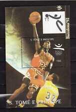 Sao Tome and Principe : Olympic Games Barcelona 92 ( Basket) Minisheet  ( MNH )