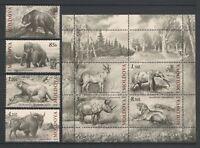 "Moldova 2010 Animals ""Extinct Fauna of Moldova"", 8 MNH stamps"