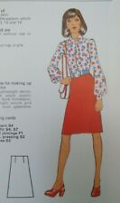 """Vintage Silver Needles Straight Skirt Sewing Pattern Waist 24/25"""" Hips 35/36"""""""