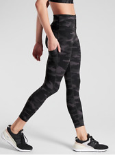 Athleta XSP XS P Ultimate Stash Pocket Camo 7/8 Tight SuperSonic Black Workout