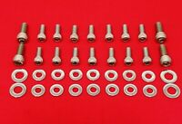 KAWASAKI 1986-1987 KXT250 TECATE 3 POLISHED STAINLESS ATV ENGINE BOLT KIT SET