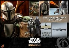 Hot Toys Star Wars The Mandalorian Deluxe Tms015 1 6 Scale Figure Set in Hand