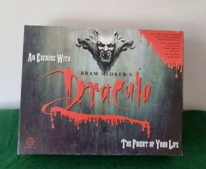 Vintage An Evening With Dracula Game Bram Stocker's 1992 Crown Andrews RPG Board