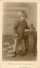 HANLEY  STRAND STUDIO RP. YOUNG CHILD WITH TOY DUCK