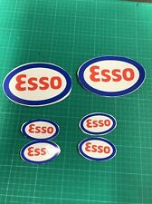 X6 Esso Retro Decal Stickers Rally race Fuel Bp Garage Classic Tool Box Stickers