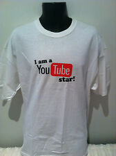 I AM A YOU TUBE STAR! T-SHIRT White NEW MERCHANDISE SIZE SMALL,MED & XLARGE