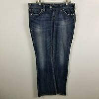 Silver Tuesday Boot Cut Womens Dark Wash Blue Jeans Size 34x33