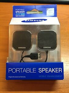 Samsung Genuine Mobile Phone Portable Speakers ASP600 - New & Boxed