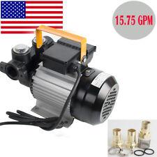 Profession Self Priming Electric Oil Diesel Fuel Transfer Pump 15.75 Gpm 110V Ac