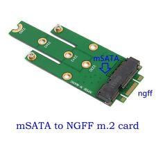 Mini mSATA PCI-E SATA 3.0 SSD to NGFF M.2 B + Male Adapter Converter Card M Key