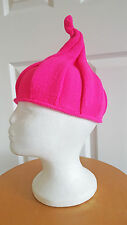 Pink Pixie Pointed Elf Hat Festival Wear Adults Teens Wizard Wool Woolly Hippie