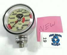 New Dacor 4000 Psi Spg Submersible Pressure Gauge 4,000 Scuba Dive #19