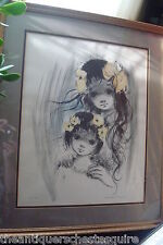 Ozz Franca – Two Sisters – Hand Colored, Signed, Lithograph 211/250[Rvlt]