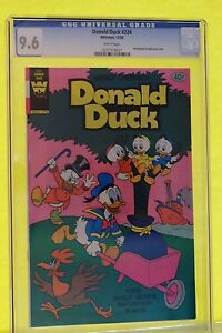 Donald Duck #224  CGC(9.6) WHITE PAGES!  **RARE WHITMAN PRE-PACK ONLY**