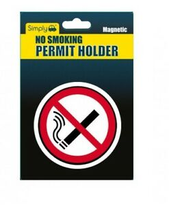 1 X TAX DISC-PERMIT HOLDER  - WITH NO SMOKING SIGN ON