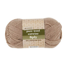 4 Seasons Pure Wool Entwine 8 Ply Yarn Ecru