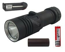 Buceo 2400LM CREE XM-L2 LED 100m impermeable 18650/26650 linterna antorcha