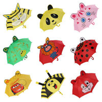 3D Cartoon Cute Ear Dome Umbrellas For Kids Girls Boys Cute Fun Rainy Lucky