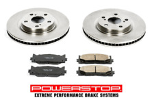 Front Disc Brake Pads and Rotor Set/Kit Ceramic Vented For Lexus Toyota