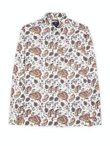 Ben Sherman® Paisley Mod Shirt/Ecru - XL  SS20 SALE