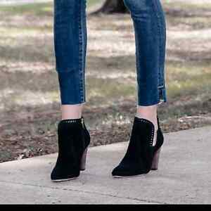 Vince Camuto Suede booties new w/box $150