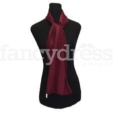 Faded Leaves Sheer Stripe Silk Silky Scarf Wine Shawl Wrap Headscarf NEW