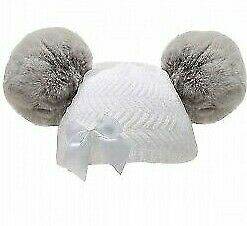 BRAND NEW BABY GIRLS BOW WITH 2 POM POM HATS SIZE 0-6 MONTHS