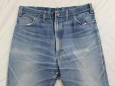 Vtg 60s 70s Hige Faded Denim Work Jeans Measure 36x30 Talon Zipper Penney's