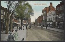 Watford, Hertfordshire. The High Street Watford 100 Years Ago. 1917 Postmark PC