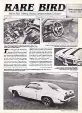 1969 PONTIAC TRANS AM RAM AIR IV ~ NICE 2-PAGE ARTICLE / AD ~ RARE CAR
