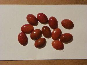 Red Jade Jadeite  Around 13x18 MM. Oval Cab One Piece Vintage Brownish Red