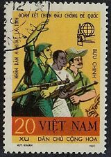 VIETNAM 1968 War Military Asian African Latin American Soldiers 20 xu Used STAMP